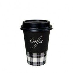 Deksel Zwart Voor Koffiebeker 180cc 70mm