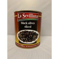 Sevillana Zwarte Olijven Gesneden