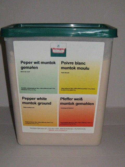Verstegen Peper wit gemalen