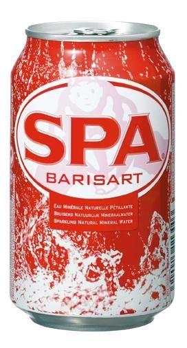 Spa water (rood) blik