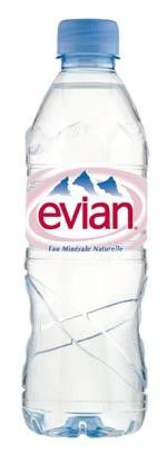 Evian Water pet